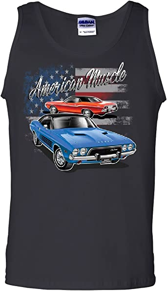 Tee Hunt Dodge Hemi Garage Tank Top American Classic Muscle Sports Cars Sleeveless