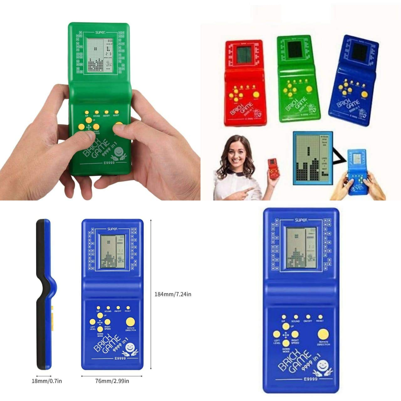 Buy Gifts Collection Children Classical Portable Tetris Handheld Kids Brick Game With Box
