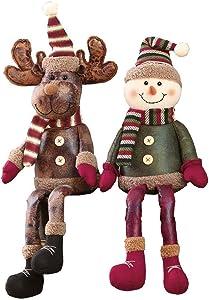 Shelf Sitters Christmas Decor Snowman and Reindeer