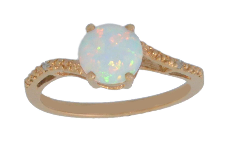 Amazoncom 14Kt Rose Gold Plated Simulated Opal Round Diamond
