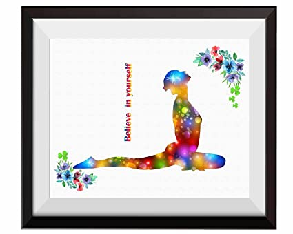 Uhomate Yoga Poses Poster Yoga Poster Yoga Meditation Home Canvas Prints Wall Art Anniversary Gifts Baby Gift Inspirational Quotes Wall Decor Living ...