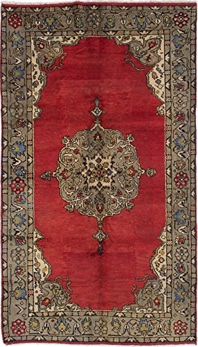 Ecarpetgallery Hand-knotted Konya Anatolian Red Traditional 5' x 10' 100% Wool kitchen dining room area rug from eCarpet Gallery