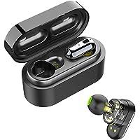 SoundPEATS True Wireless Earbuds, Bluetooth 5.0 Wireless Headphones Dual Dynamic Drivers in-Ear Bluetooth Earphones Built in Mic IPX6 Sweatproof Bluetooth Headphones with Portable Charging Case