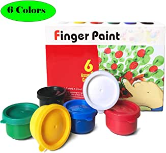 Magicdo Washable Finger Paint Kit for Kids, 6 Claassic Colors Kids Paint Set, School Painting Supplies,Non-Toxic Finger Painting Kit for Arts, Crafts and Posters