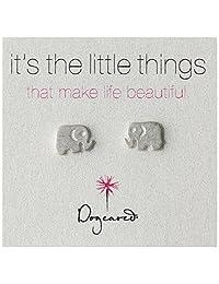 Dogeared It's the Little Things Elephant Post Earrings
