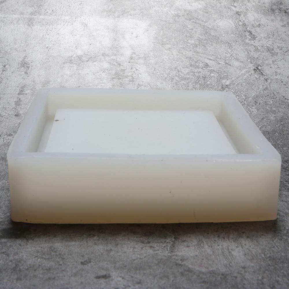 Concrete Planter Best Quality - Clay Molds - Square Shaped Silicone Concrete Planter Pallet Mold Clay Crafts Home Decoration Concrete vase Tray Cement Candlestick Mould - by GTIN - 1 PCs