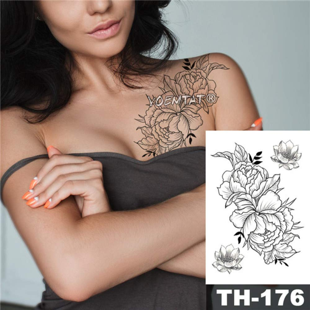 Modeganqing 5 Piezas Tatuaje Impermeable boceto Etiqueta línea de ...