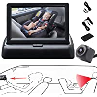 RYBPVC Baby Car Mirror, UPGRADED Baby Monitor with Infrared Night Vision for Rear Facing Seat Safely Car Seat Mirror…