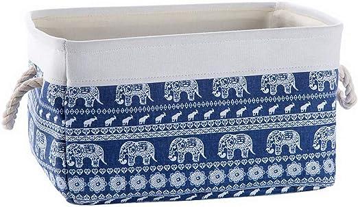 Cesta de Tela Snacks Toys Caja de Almacenamiento de desechos, Elefantes: Amazon.es: Hogar