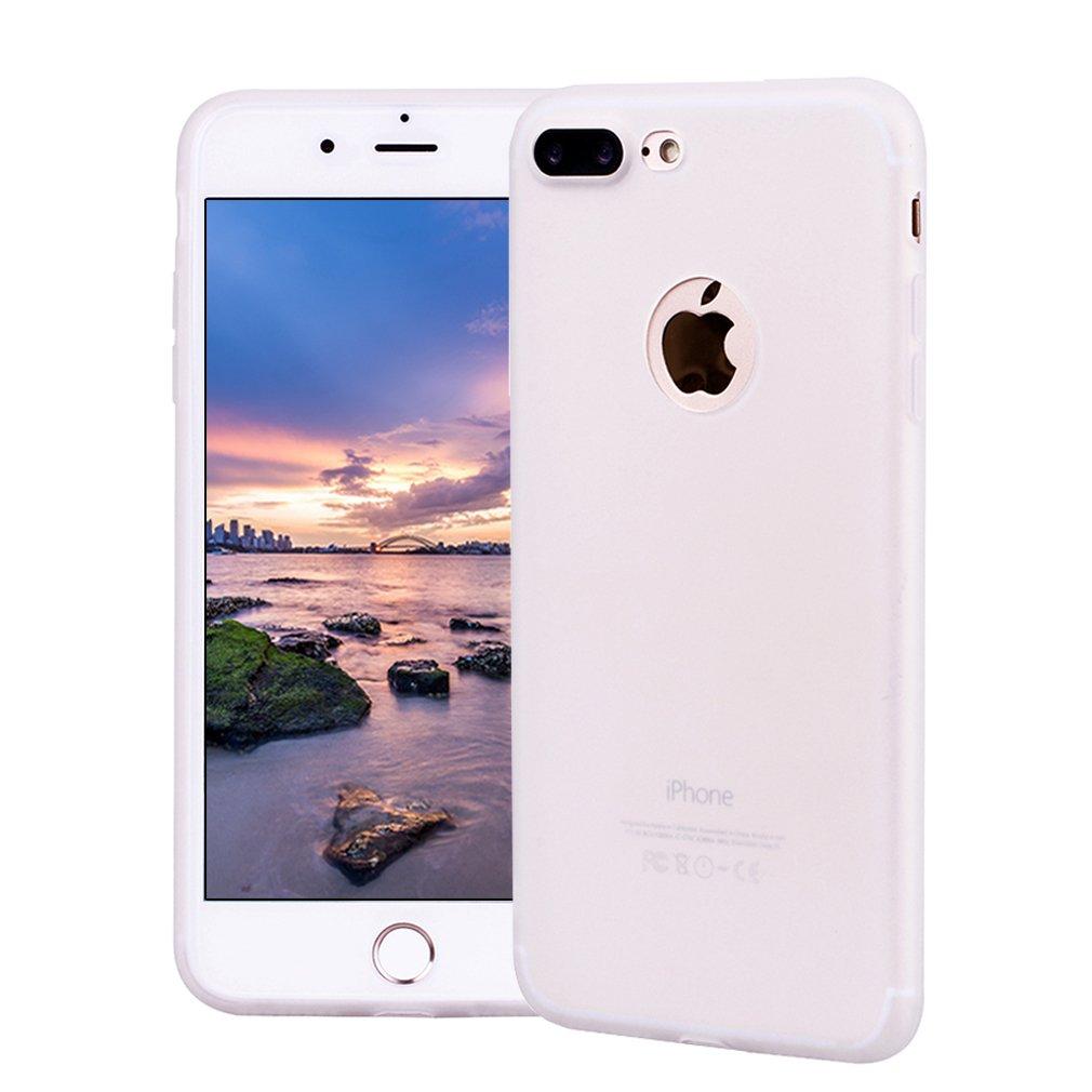 Funda iPhone 7 Plus, Carcasa iPhone 7 Plus Silicona Gel, OUJD Mate Case Ultra Delgado TPU Goma Flexible Cover para iPhone 7 Plus - Rojo