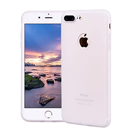 Funda iPhone 7 Plus, Carcasa iPhone 7 Plus Silicona Gel, OUJD Mate Case Ultra Delgado TPU Goma Flexible Cover para iPhone 7 Plus - Blanco