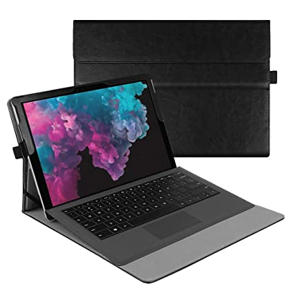 Fintie Case for Microsoft Surface Pro 6 / Pro 5 / Pro 4 / Pro 3 / Pro LTE -  Multiple Angle Viewing Portfolio Business Cover, Compatible with Type