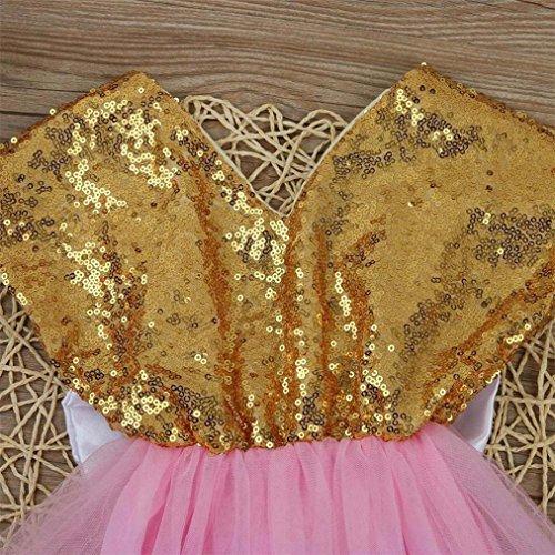 Vovotrade Baby Blumen Mädchen Sequins Bowknot Kleid Partei Kleid ...