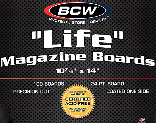 500 Life Magazine Backing Boards by BCW