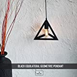 edison bulblamp design THE BLACK EQUILATERAL LIVING ROOM LAMP 40W TRIANGLE CEILING LAMP - THE BLACK STEEL