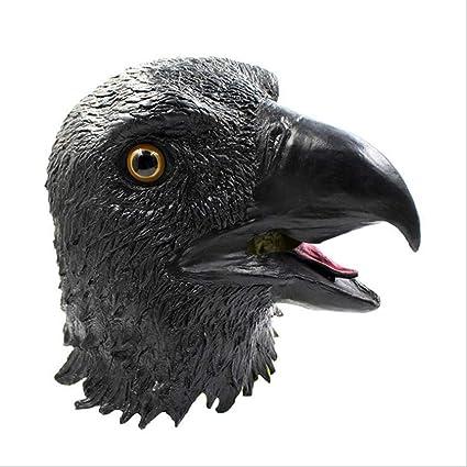 DLDL Máscara de águila Volando Demasiado Blanca con Capucha de águila (Color : Negro)
