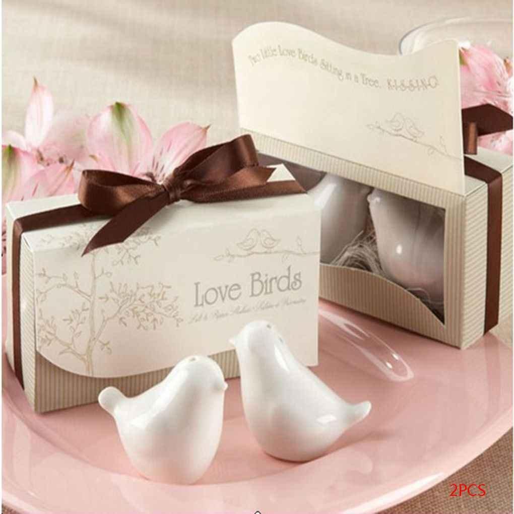 Lorsoul 2pcs//Paquet Love Birds C/éramique Sel Poivri/ère
