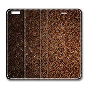 iPhone 6 Plus Case, Fashion Protective PU Leather Flip Case [Stand Feature] Cover Rusted Metal for New Apple iPhone 6(5.5 inch) Plus
