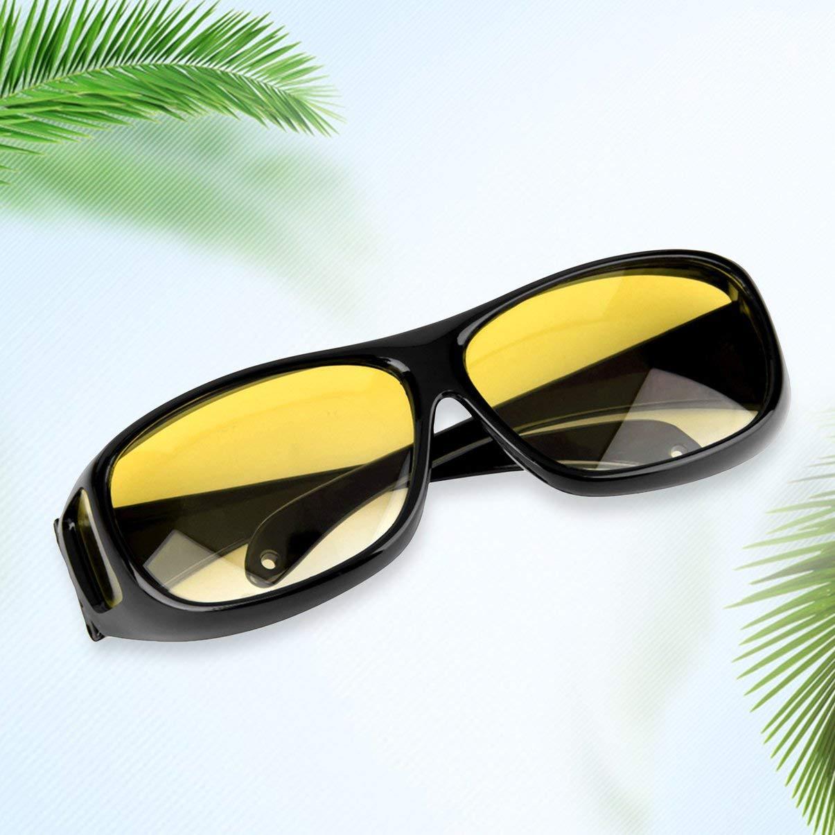 FHJZXDGHNXFGH-UK Man Woman Night Driving Glasses Driver Safety Sunglasses UV 400 Eye Protecting Glasses Goggles Anti Glaring Vision