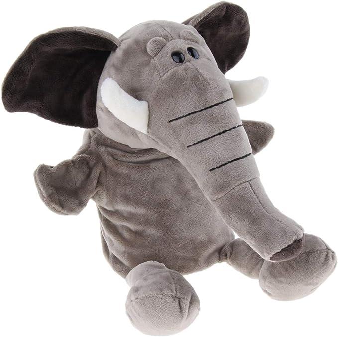 31cm Zoo Tier Handpuppen Elefant Handpuppe Rollenspiel Spielzeug für Kinder