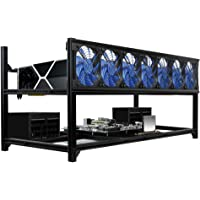 Kingwin Professional 8 GPU Aluminum Miner Case Stackable Mining Case Rig Open Air Frame for Cryptocurrency Mining…