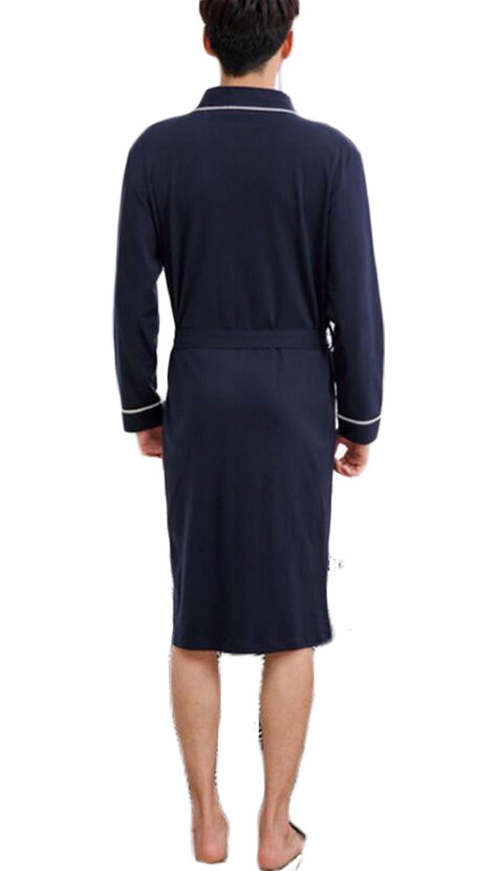 Pijama de rayas para hombre/Mobiliario para casa de primavera y otoño/Albornoz cálido y cómodo Vestido de noche de algodón: Amazon.es: Ropa y accesorios
