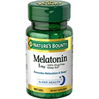 180 Tablets Natures Bounty Melatonin 1 MG