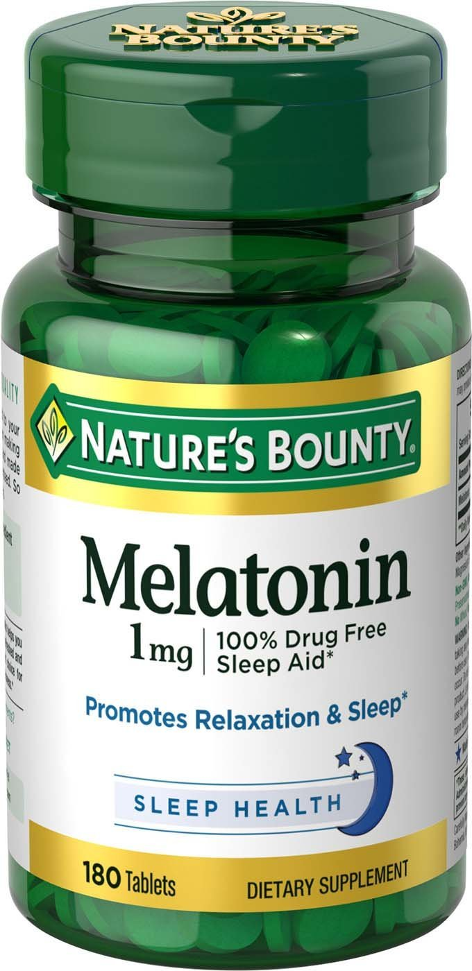 Amazon.com: Natures Bounty Melatonin 1mg, 180 Tablets (Pack of 2) by Natures Bounty: Health & Personal Care