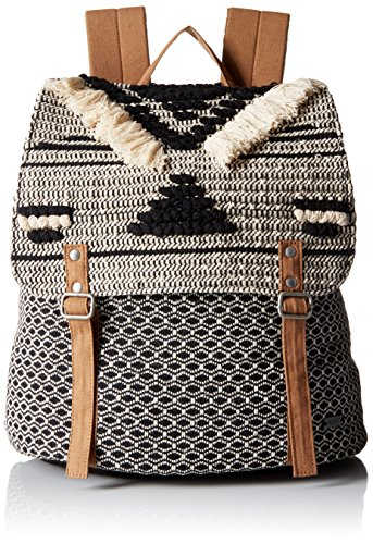 Roxy Women's Savanna Cay Novelty Backpack Shoulder Handbag, True Black, One Size