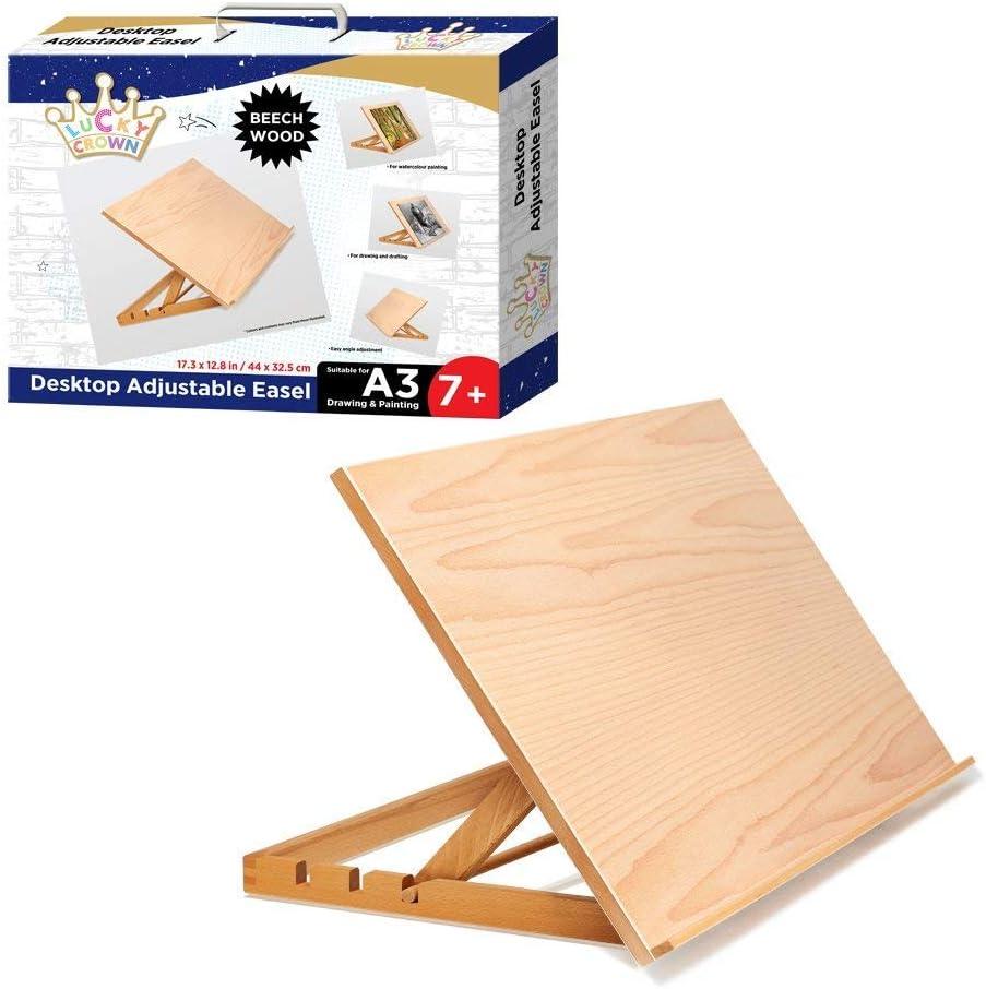 Atril de madera ajustable peso ligero  caballete con soporte