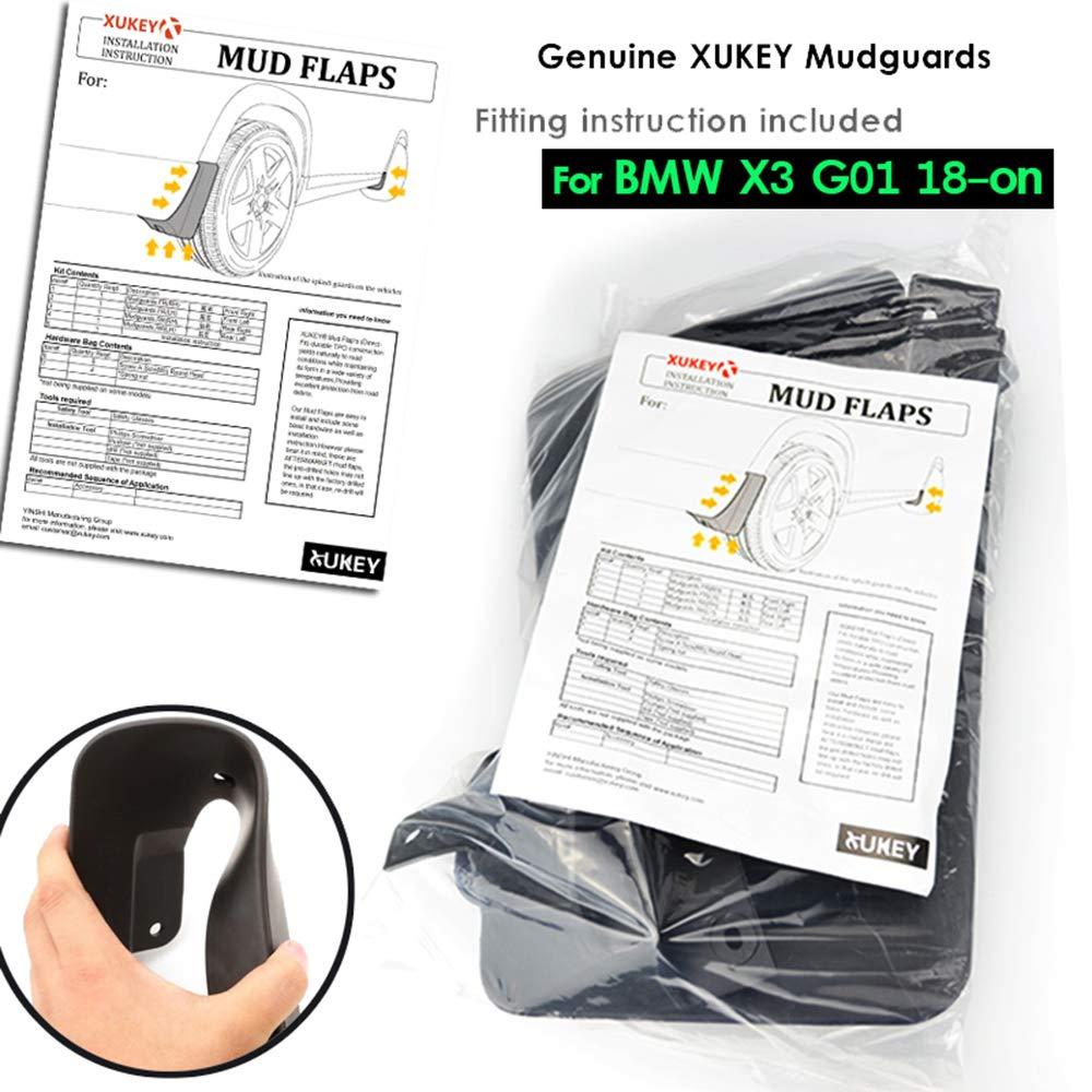 XUKEY Juego de 4 protectores de salpicadero para X3 G01 2018 en 2019