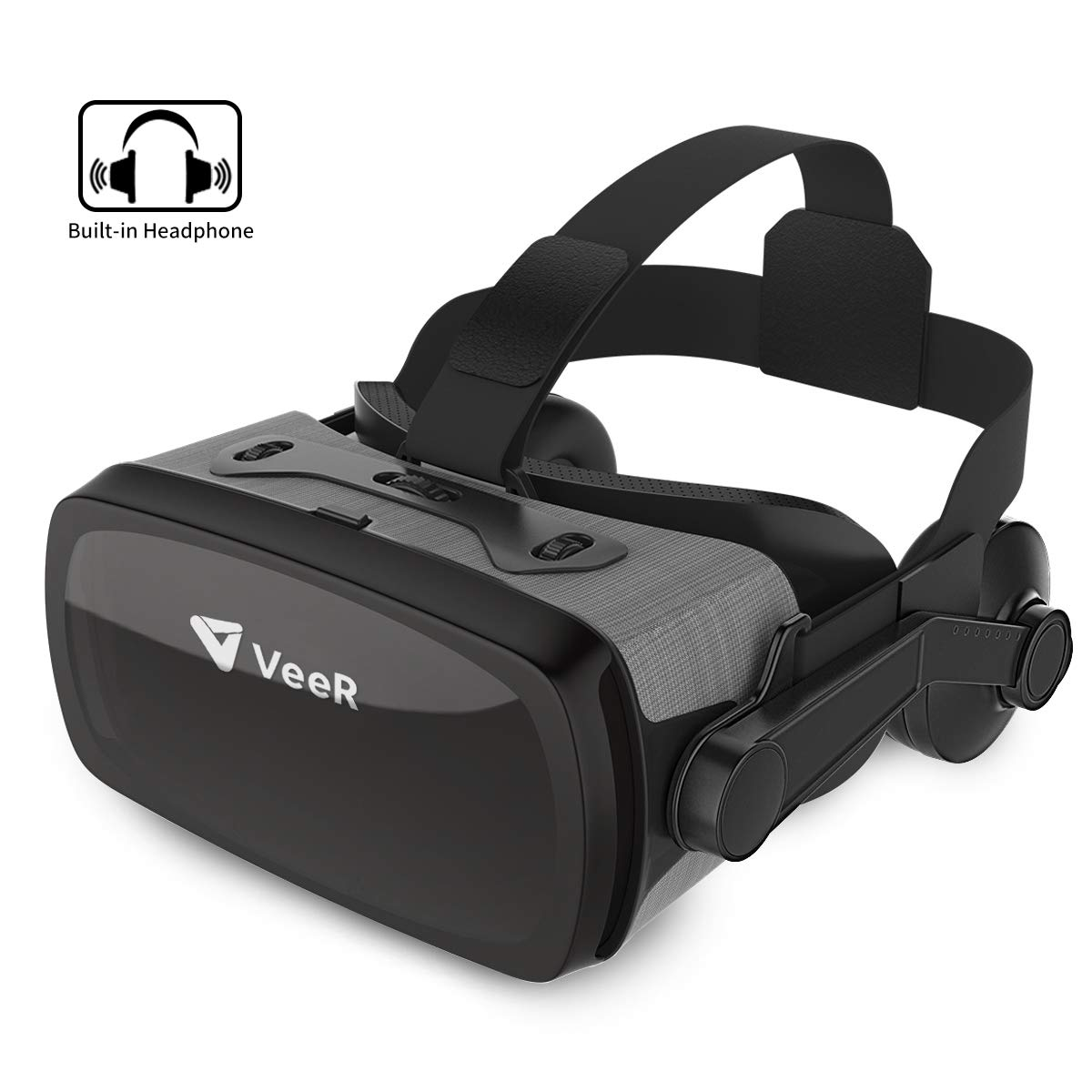 VeeR VR Falcon Headset, Universal Virtual Reality Goggles to Comfortable Watch 360 Movies for Android, Samsung Galaxy S9 & Note 9, Huawei and iPhone XR & Xs Max