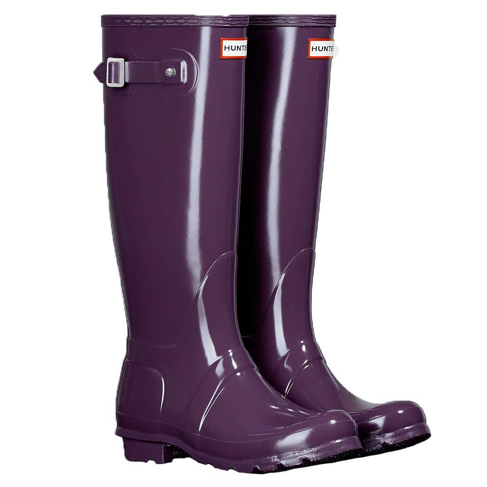 Hunter Women's Original Tall Rain Boot B01BD2FPOO 5 B(M) US|Gloss Purple Urchin