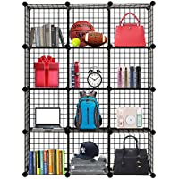 Homezest Closet Organizer Storage Racks Sets, 12 Cube Shelf Cabinet Wire Grids Panels for livingroom
