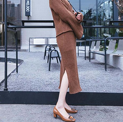 Blanco Tacón Tacón 37 de Zapatos 34 Sandalias Marrón Cuadrado 39 Negro Tallas Rosa Marrón Color de Alto Tamaño SvqXqw