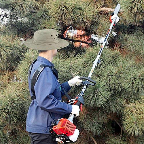 Maxtra Gas Pole Saw, 42.7CC 2-Cycle 8.2FT to 11.4 FT Extendable Cordless Gas Chainsaw,Powerful Long Reach Tree Trimmer Pruning Chain Saw with Portable Bag