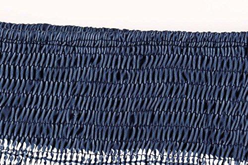 donna mini Blu seta Scuro Bohemian da stampa in stampata con spiaggia per Abito keephen Abito abito q06xvEnf