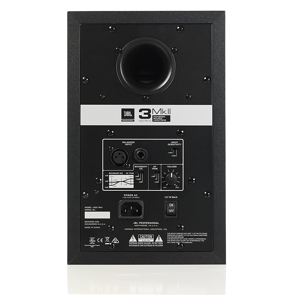 JBL 305P MkII 5'' Two-Way Studio Monitoring Speakers (Pair) by JBL Professional (Image #5)