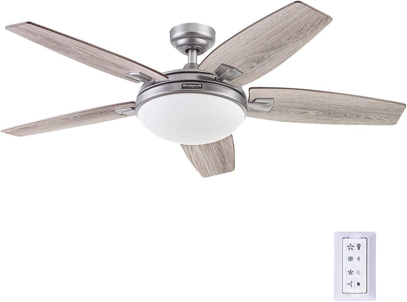 Honeywell Ceiling Fans 51627-01 Carmel Ceiling Fan, 48, Pewter