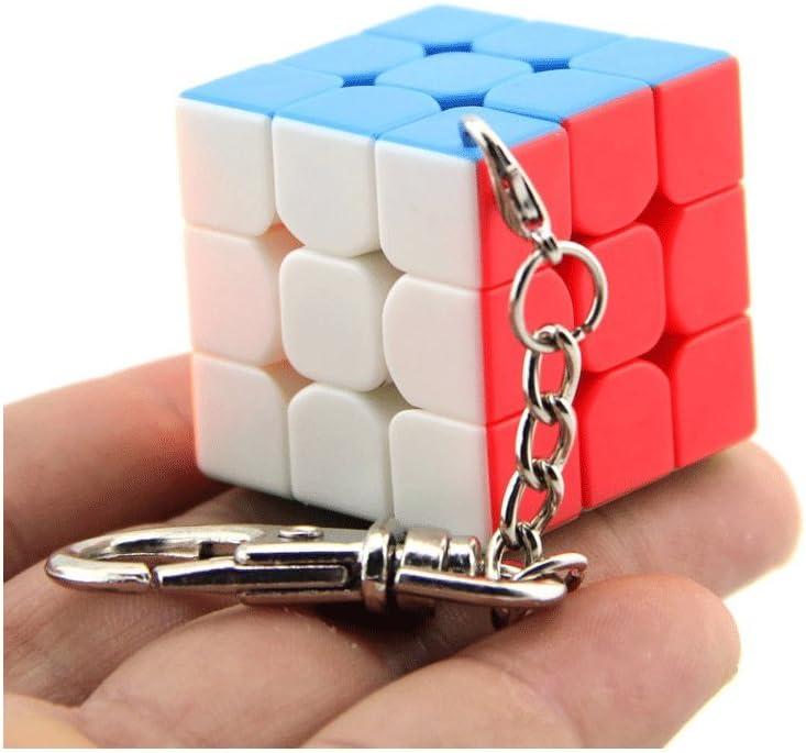 Moyu 3x3 Mini cubo llavero cubo liso colgante niños Puzzle regalo 30mm & 35 mm & 40 mm | Dingze (30mm): Amazon.es: Juguetes y juegos