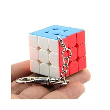 Moyu 3x3 Mini cubo llavero cubo liso colgante niños Puzzle regalo 30mm & 35 mm & 40 mm | Dingze (30mm)