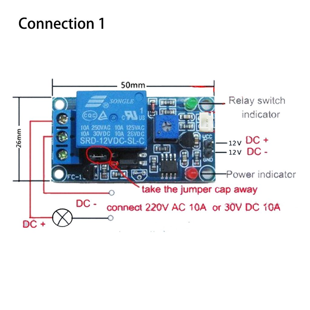 2 Pack Ac Dc 12v 10a Auto On Off Photocell Light Switch Two Photocells Wiring Diagram One Photoswitch Sensor Easytle Holiday Gifts