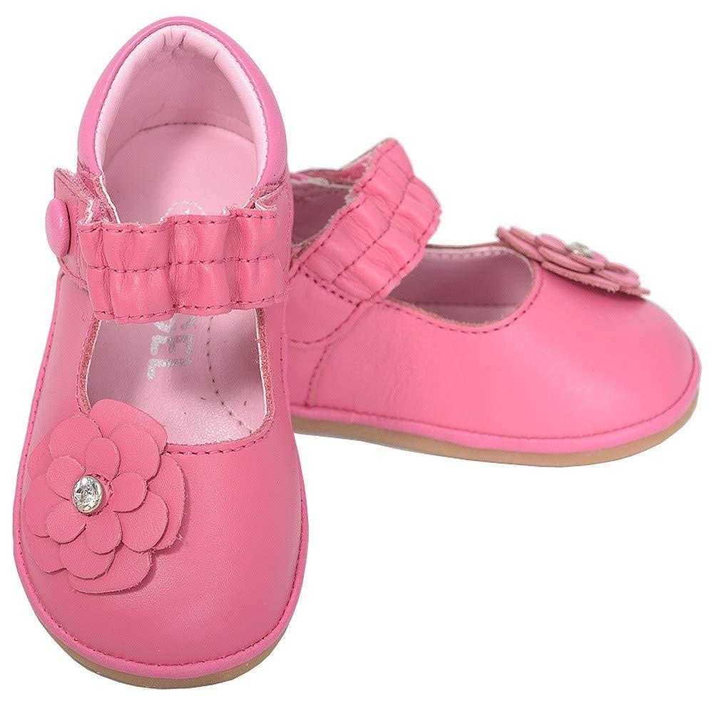 Angel Toddler Girls 5 Fuchsia Jeweled Flower Mary Jane Shoes