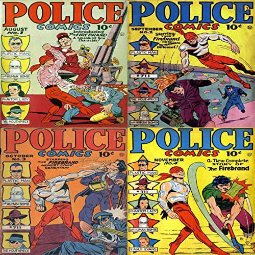 Police Comics. Issues 1, 2, 3 and 4. Plastic man, the mouthpiece, Plastic man, phantom lady, the mouthpeice, the firebrand, phantom lady and more. Digital ... Comic Compilations Crime, Justice and Law - Phantom Lady Comics