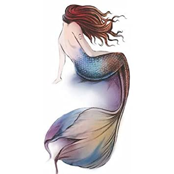 Amazoncom Mermaid Tattoo Stickers Individual Styles