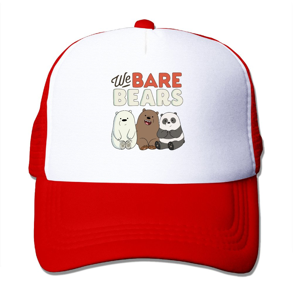 We Bare Bears Adjustable Trucker Hat Unisex Black