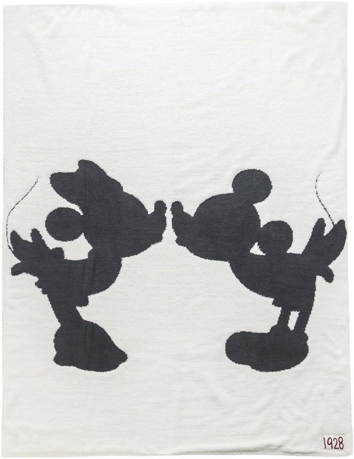 ベアフットドリームス ブランケット ディズニーコレクション [#D103] DISNEY MICKEY & MINNIE MOUSE ミッキー ミニー コージーシック シングルブランケット (カラー:Cream) Barefoot Dreams [並行輸入品]