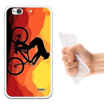 WoowCase Funda ZTE Blade S6 Plus, [ZTE Blade S6 Plus ] Funda Silicona Gel Flexible Ciclismo Bicicleta Montaña, Carcasa Case TPU Silicona - ...