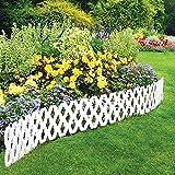 4 Pc Outdoor Flexible Lattice Weatherproof Plastic Garden Edging Border