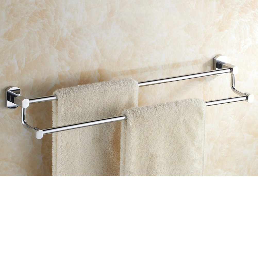 brass double bar towel rack bathroom double towel bar